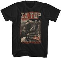 Tres Hombres Zz Top Classic Rock Band Licensed Concert Tour Adult Black T-shirt