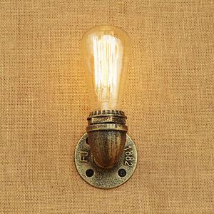 Vintage Loft Copper Industrial Rustic Sconce Wall Light Lamp Fitting Edison Bulb eBay