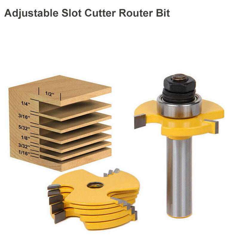 "1//2/"" Shank T-Slot /& T-Track Slotting Router Bit Fr Woodworking Chisel Cutter"