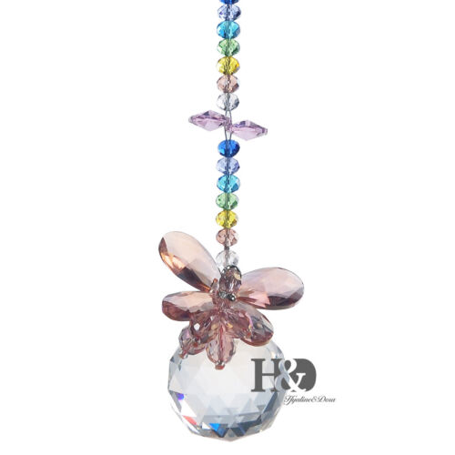 Butterfly Suncatcher Glass Prisms Crystal Ball Pendants Hanging Window Decor