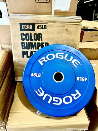 ✈️SHIPS PRIORITY 2 DAY✈️ ROGUE Fitness Echo Bumper Plates 45 lb PAIR Set of 2