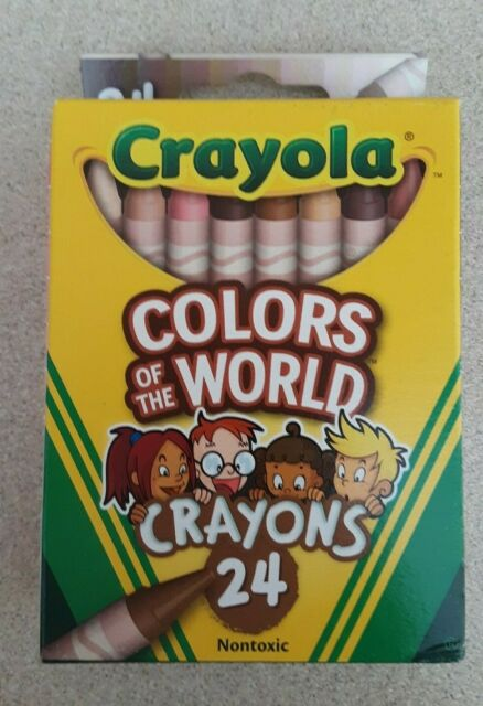 Crayola Colors of the World Crayons 24pc Skin/Hair/Eyes/Multicultural/Diversity