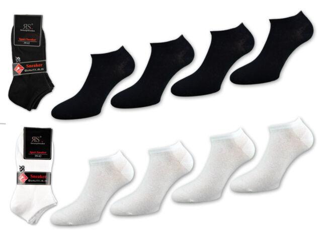 Sneakersocken Damen Sportsocken weiss 80 /% Baumwolle 4er-Pack