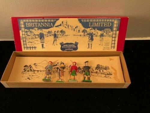 VINTAGE Boxed MALCOLM MINIATURES Scottish Figures TOY SOLDIERS Britannia LTD