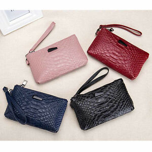 Image Is Loading Fashion Women Genuine Leather Wallet Bag Case Clutch