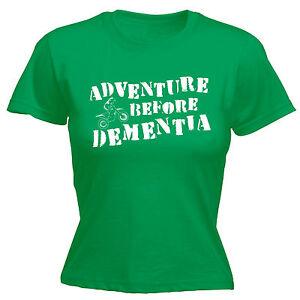 Snowboard adventure before Dementia graphique t-shirt femme drôle cadeau d/'anniversaire