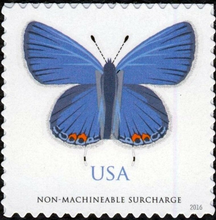 2016 68c Eastern Tailed-Blue (Butterfly) Non-machineabl