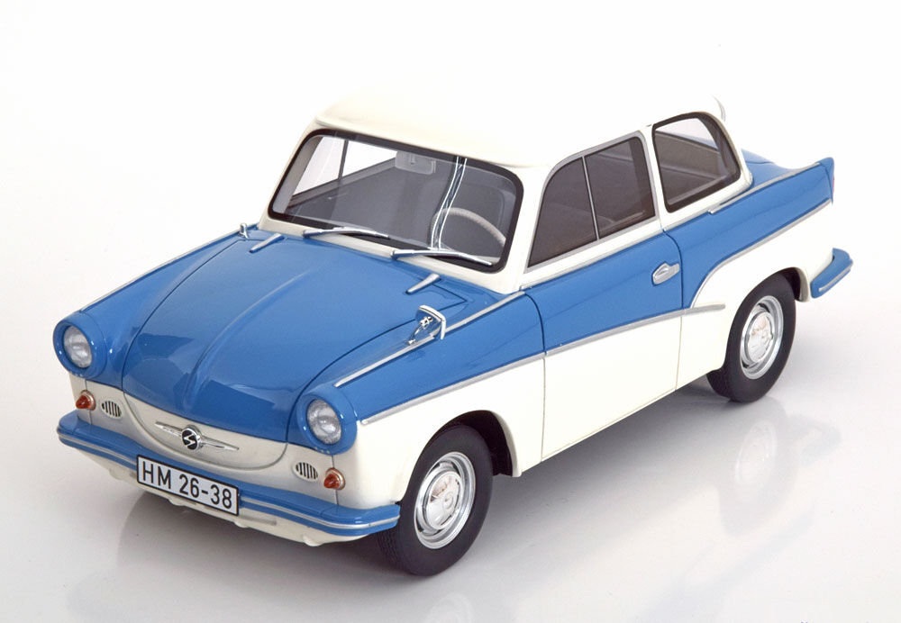 1958 TRABANT P50 Blue and White by BoS Models LE of 1000 1/18 Scale New!