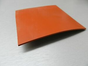 """SILICON RUBBER SHEET HIGH TEMP SOLID RED/ORANGE COMMERCIAL GRADE 12"""" x 12"""" x1/4"""""""