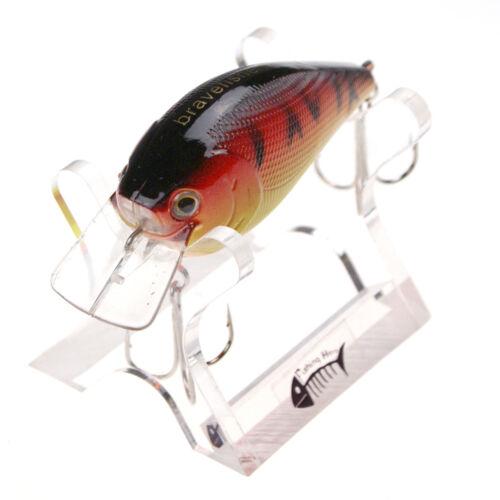 1//3//5//10PCS Outdoor  Small Fat hard Baits 2 Hook Tackle Fishing Lures 15g//80mm