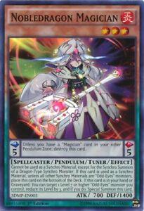 Nobledragon Magician - SDMP-EN003 - Super Rare - 1st Edition x3 - Near Mint