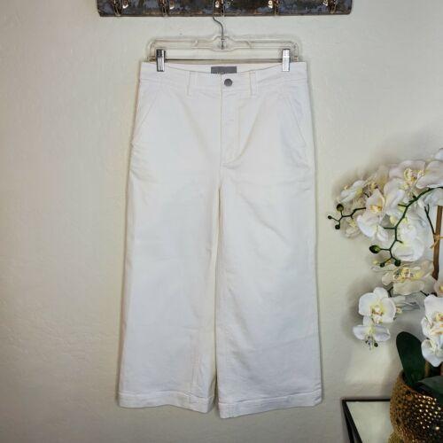 Everlane Women's White Wide Leg Crop Pant Size 8