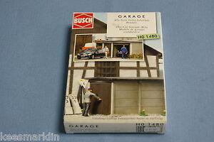 Busch-1480-One-Car-Garage-kit-HO-scale
