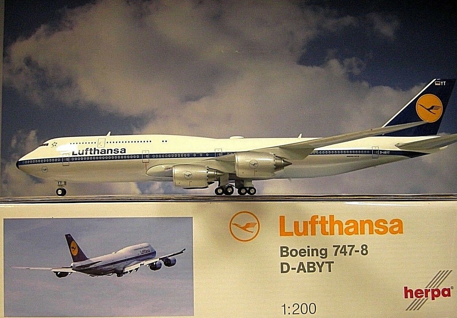 Herpa Wings 1 200 Boeing 747-8 Rétro Intercontinental Lufthansa D-Abyt 557221