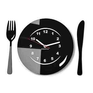 Orologio da parete moderno per cucina COPERTO DA TAVOLA, 16 colori ...