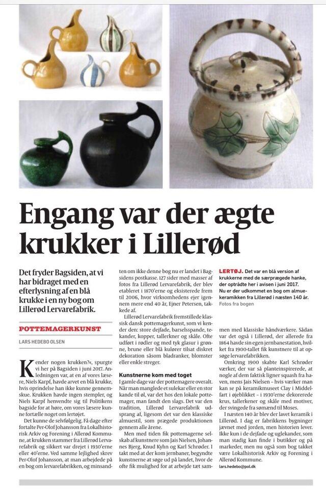 Keramik, Tekande , Lillerød Lervarefabrik