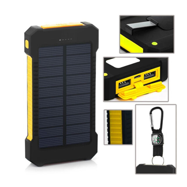 LED Dual USB Ports Solar Panel Power Bank Case Box Charger DIY Material Kits