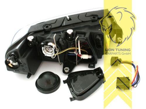 DEPO Angel Eyes Scheinwerfer für VW Passat 3BG Limousine Variant Cabrio schwarz
