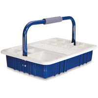 Blue Phlebotomy Tray With 13mm Tube Rack 16.5l X 11.5w X 9.5h 1 Ea