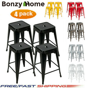 24-039-039-Set-of-4-Metal-Counter-Bar-Stools-Dining-Chair-Bar-Stackable-Stools-Vintage