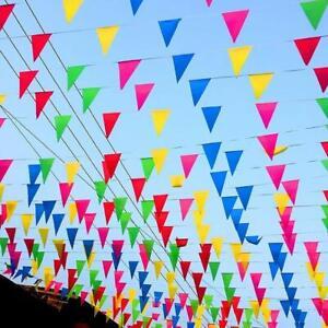100M-150-banderas-multicolor-Empavesado-Bandera-Fiesta-Evento-Hogar-Decoracion-De-Jardin