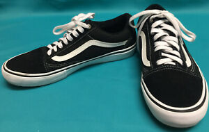 Vans-New-Black-White-Suede-Classic-Old-Skool-Skateboard-Sneaker-shoes-Size-11