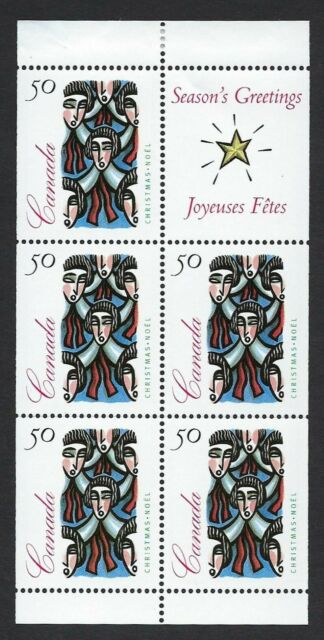 Canada Scott 1534a: 50c Carolling 1994 Christmas Issue pane of 5+label, VF-NH