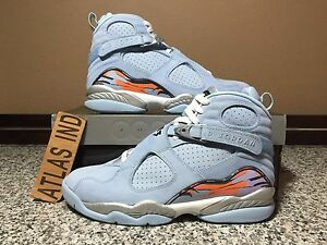 brand new 5876f a993e Details about WMNS AIR JORDAN 8 RETRO Ice Blue Nike VIII 2007 Womens Size 9  Mens Size 7.5
