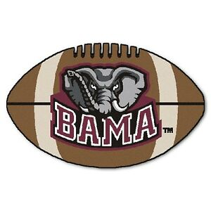 Alabama Crimson Tide Football Shaped Area Rug Floor Mat