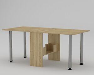 Tisch Klappbar.Details Zu Klapptisch Tisch Klappbar Esstisch Ausklappbar Sonoma Eiche Holzoptik