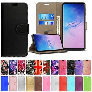 Pour Samsung S20 FE S10 S9 S8 Plus S21 Téléphone Étui en Cuir Flip Portefeuille Housse livre