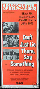 DON-039-T-JUST-LIE-THERE-SAY-SOMETHING-Joanna-Lumley-Original-Daybill-Movie-Poster