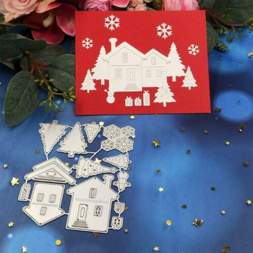 House Tree Metal Cutting Dies Stencil Scrapbooking DIY Album Paper Embossing