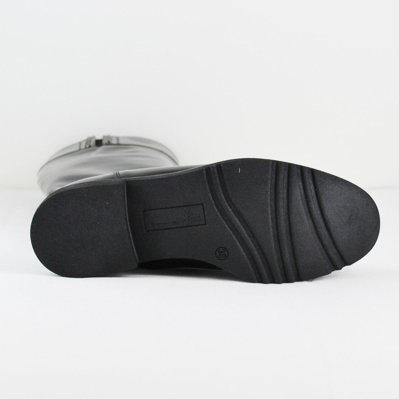 Tosca Blu señora botas Aline en negro de cuero & 41 nuevo