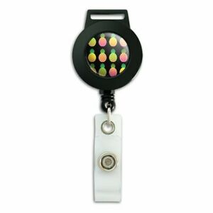 Colorful-Pineapples-Pattern-Lanyard-Retractable-Reel-Badge-ID-Card-Holder