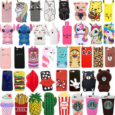 new style d3146 8d193 Hot 3D Cute Cartoon Soft Silicone Phone Case Cover For Samsung Galaxy J7  J7Prime | eBay