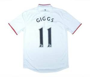 Manchester United 2012-14 ORIGINALE AWAY SHIRT GIGGS #11 (eccellente) M