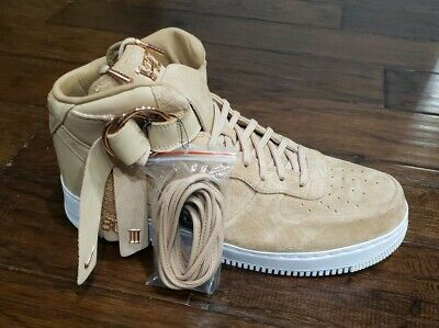 NIKE MENS AIR FORCE 1 MID CMFT VICTOR CRUZ Size 12.5 Vachetta Tan NO LID | eBay