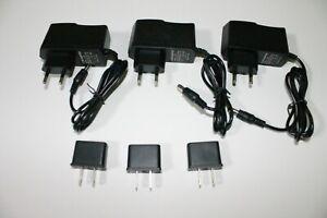 1A AC 100V-240V Converter Adapter DC 9V 500mA 0.5A US Power Supply 5.5 x 2.1mm