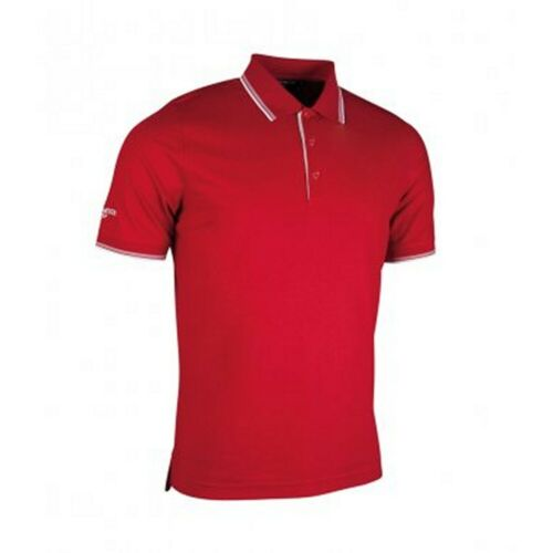 PC2407 Glenmuir Mens Tipped Short Sleeve Moisture Wicking Polo Shirt