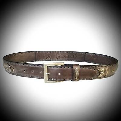 Sendra Leather Belt 8563 handmade padded black brown snaps easy buckle exchange