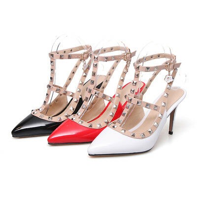 3.5 11 Women Shoes Pointed Toe Pumps Patent Leather Dress