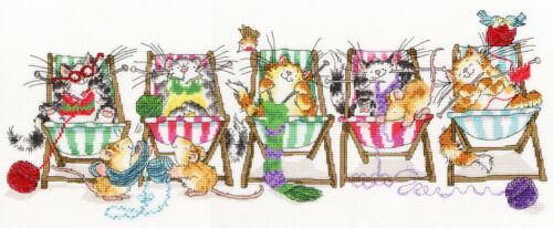 Bothy Threads Point De Croix Kit-Kitty Knit