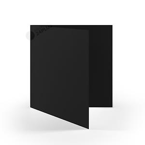 Schwarz 160 x 160 mm // 16 x 16 cm 25x Klappkarten quadratisch