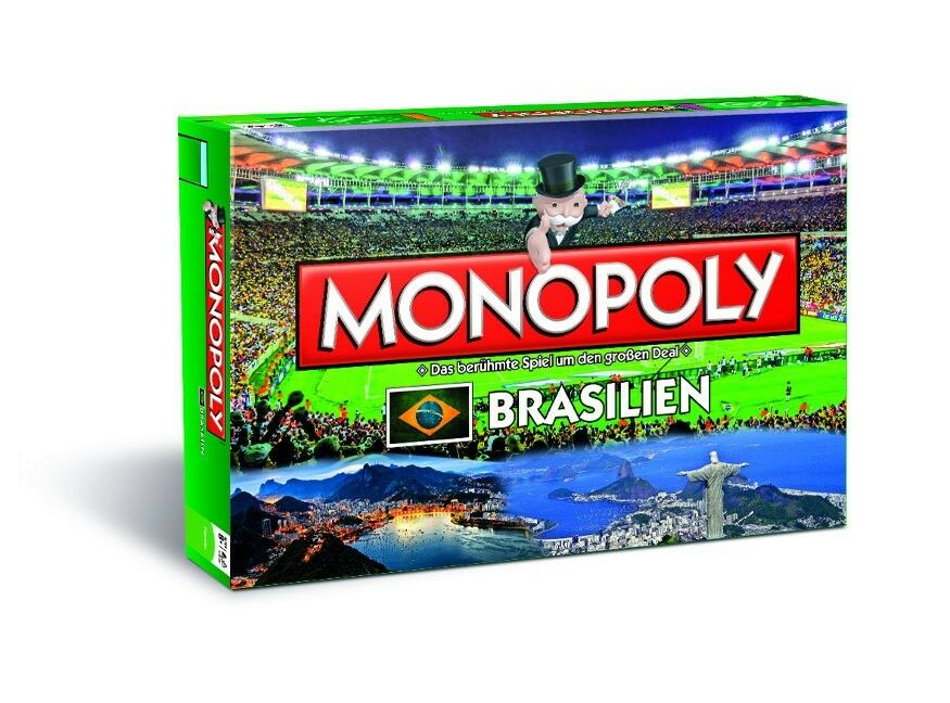 Original Monopoly Brazil Board Game Party Game Game WM 2014 New