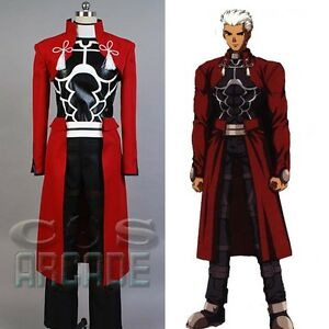 Fate Stay Night Unlimited Blade Works Red Archer COSplay Costume Red ... 2b05ebdff