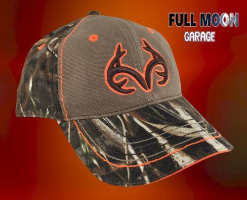 New Realtree Antler Camo Orange Real Tree Mens Snapback Cap Hat