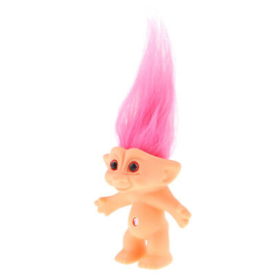 Green 10cm Nude Lucky Troll Doll Mini Action Figures Toy Pencil Topper Craft