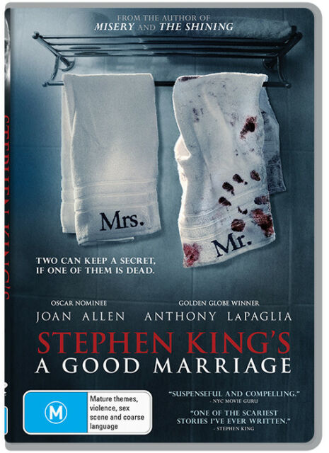 Stephen King's A Good Marriage (DVD) THRILLER [Region 4] NEW/SEALED