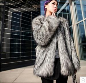 Jacket Plus Ladies Party Fur Luksus Winter Overcoat Vogue Coat Størrelse Warm Løst zdqvCvw